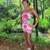 Black hottie Kamily posing outdoors